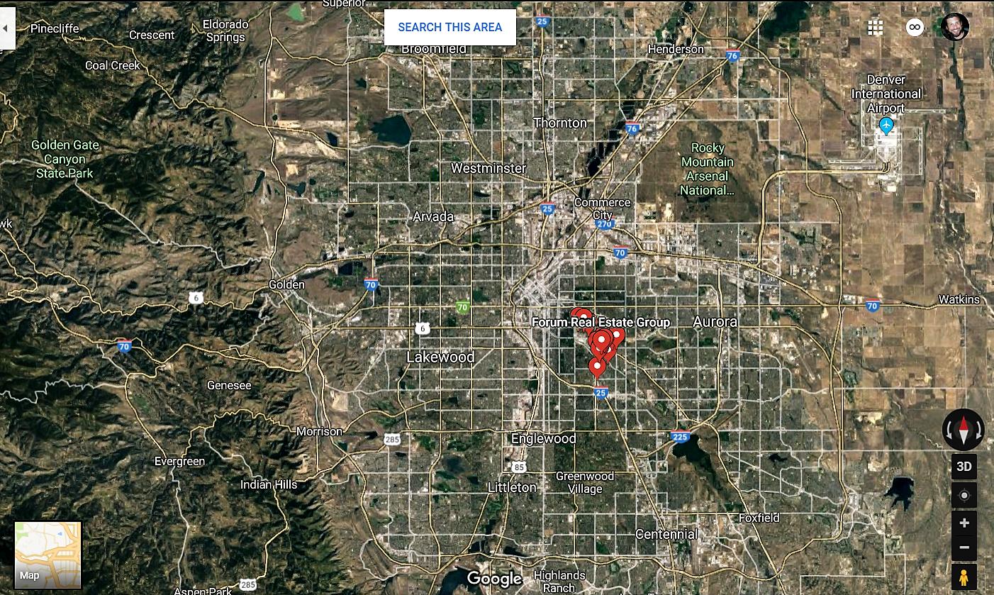Glendale Colorado Google Maps Real Estate Realtors and Mortgage Loans