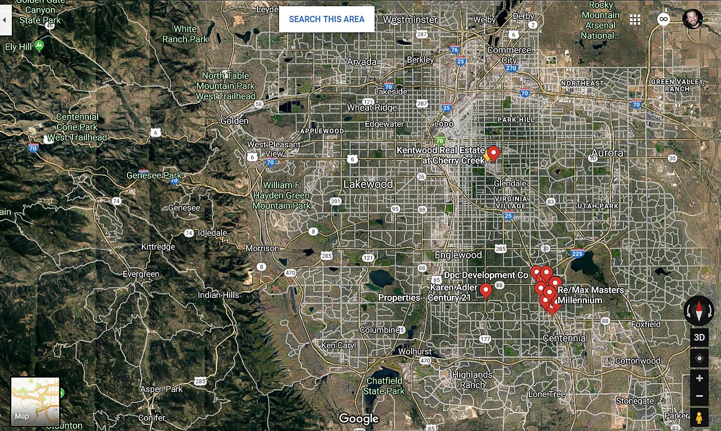 Greenwood Village Colorado Google Maps Real Estate Realtors and Mortgage Loans