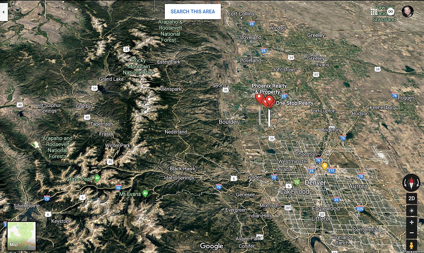 Lafayette Colorado Google Maps Real Estate Realtors and Mortgage Loans