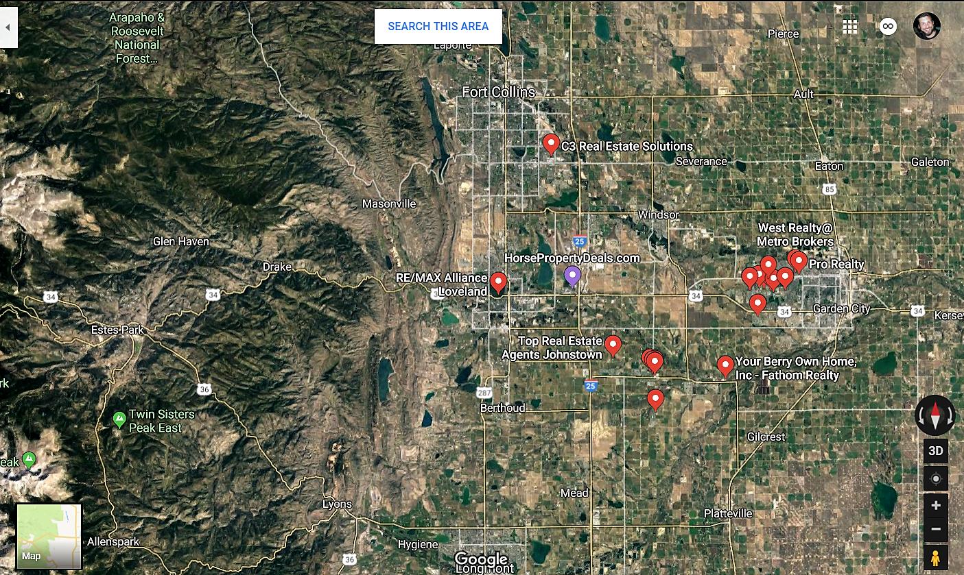 Milliken Colorado Google Maps Real Estate Realtors and Mortgage Loans