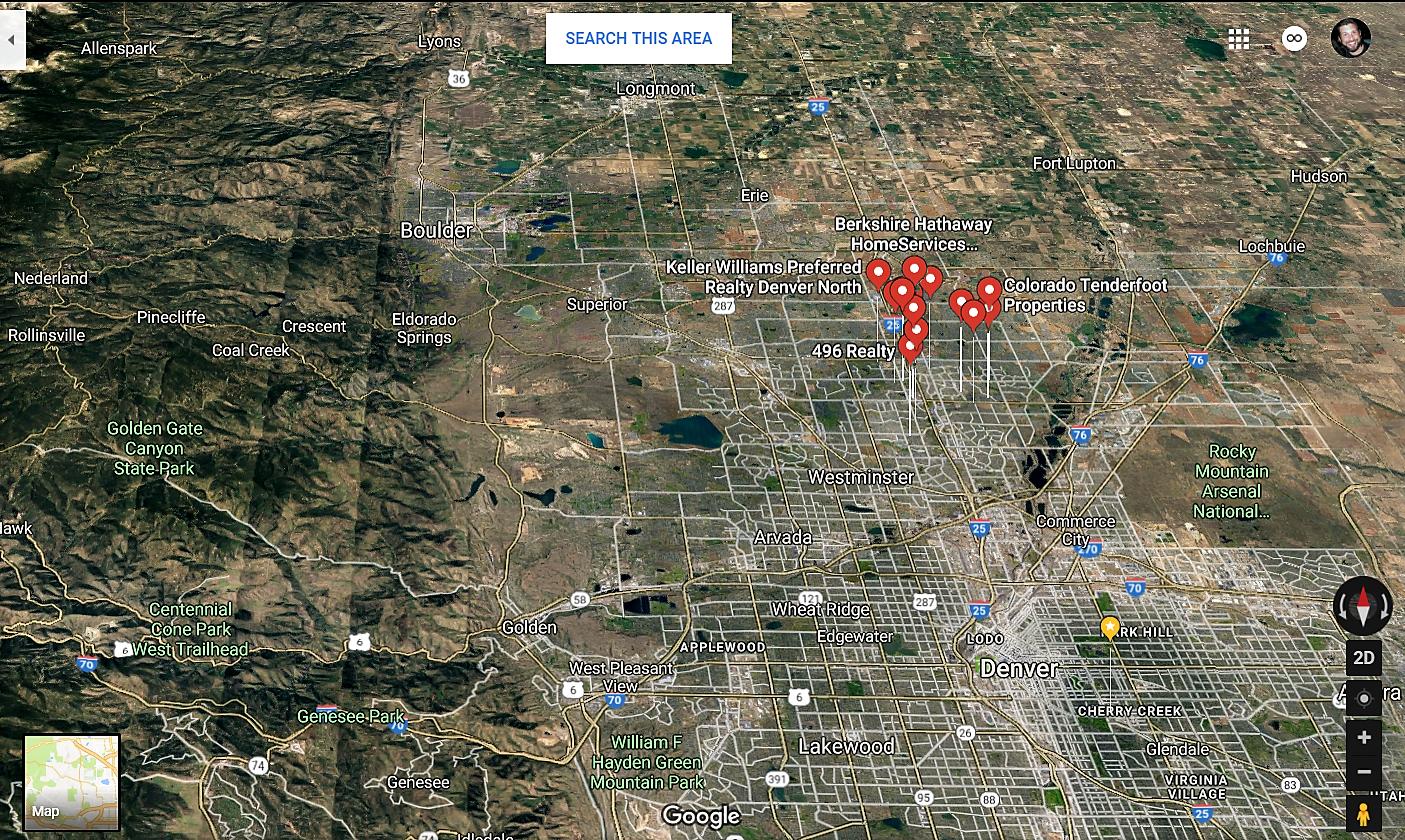 Northglenn Colorado Google Maps Real Estate Realtors and Mortgage Loans