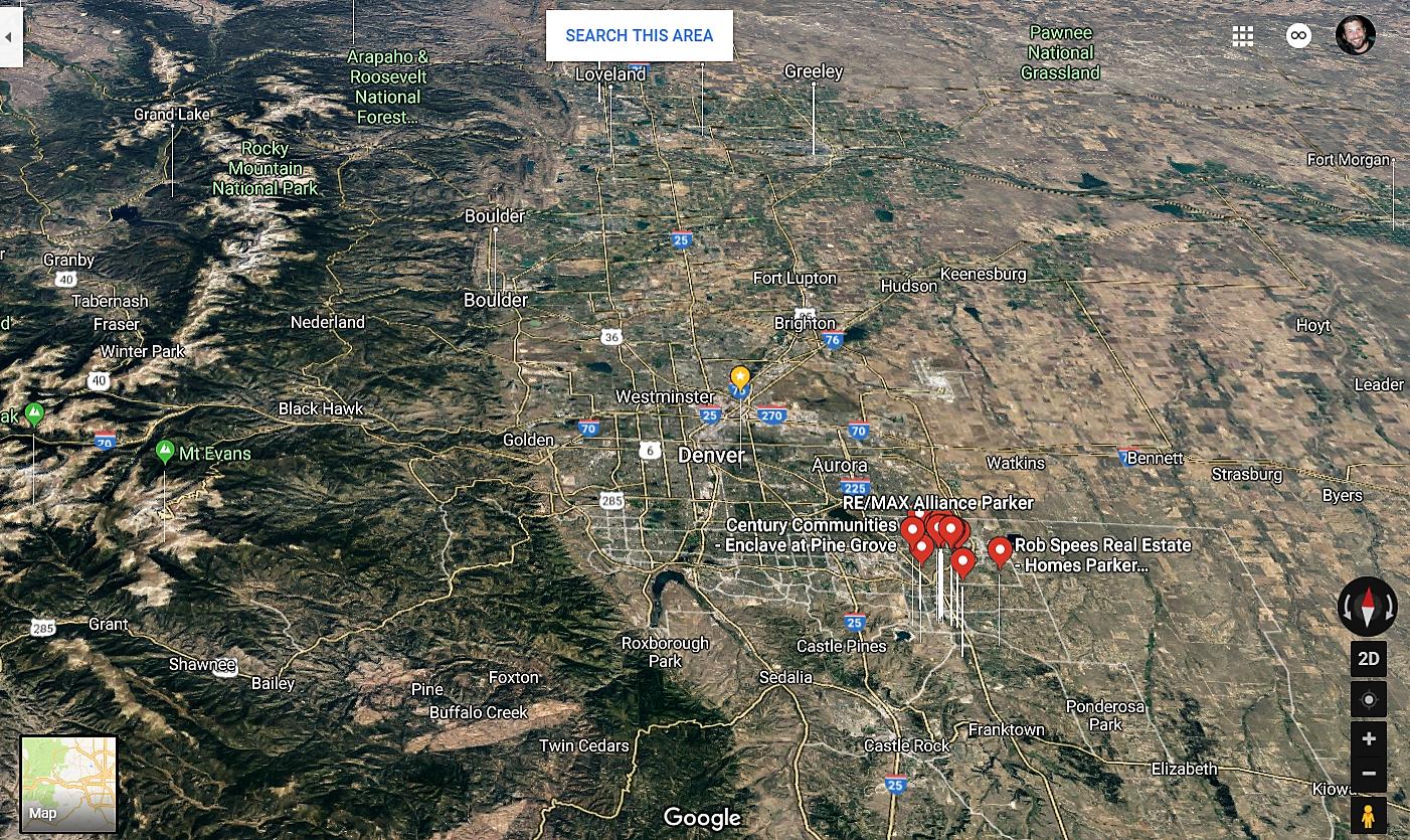 Parker Colorado Google Maps Real Estate Realtors and Mortgage Loans