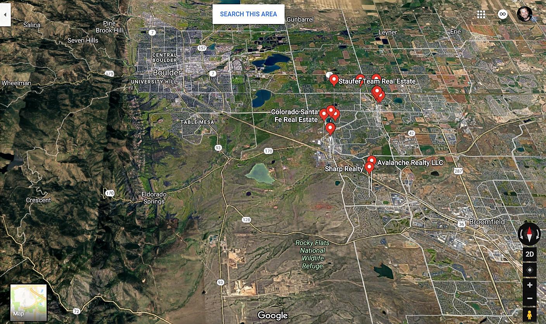 Superior Colorado Google Maps Real Estate Realtors and Mortgage Loans