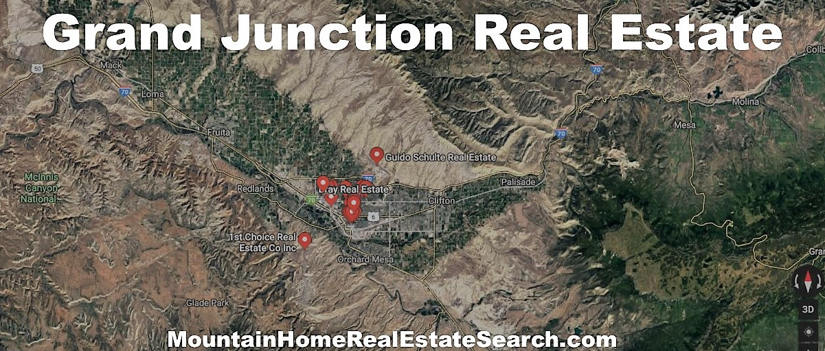 Grand Junction Real Estate and Mortgage Loans Map